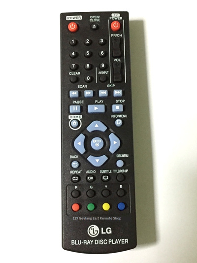 ★Local Shop★ LG BLU-RAY DISC PLAYER Remote Control (New Replacement)