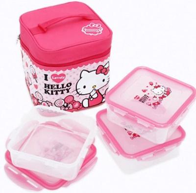 6aa4e11f7e Qoo10 - Lock   and Lock Hello Kitty Children Kids Lunch Box Bento Outdoor  Hiki...   Bag   Wallet
