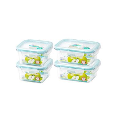 Qoo10 Lock Lock Antibacterial Bisfree Tabletop Food Storage Set 4