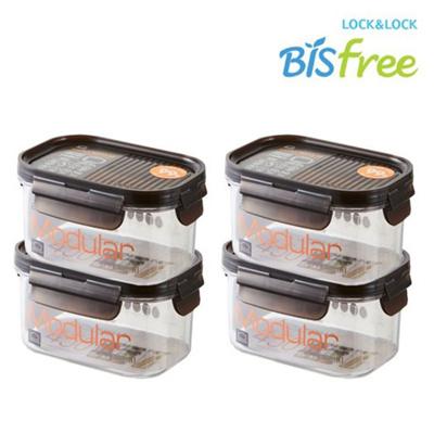 9a5b050667d5 Lock & LockBisfree Modular Rectangular 450ml LBF402 4P / Multi-Purpose Food  Storage Box