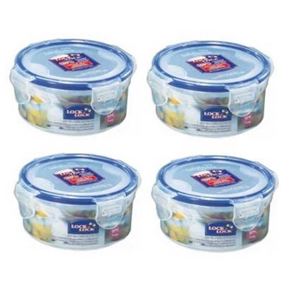 Qoo10 Lock Lock Clip Lid Round Food Storage Container BoxPACK of