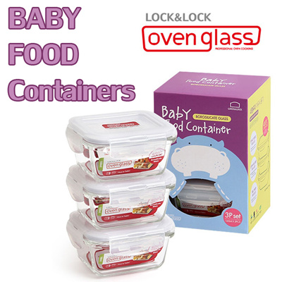 LOCK N LOCK Oven Glass 160ml 3P Set (Microwave / Oven   Private Container)