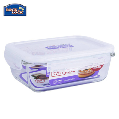 Qoo10 Lock lock Tupperware heat resistant glass containers