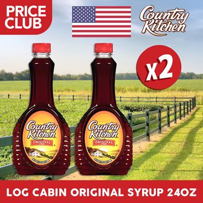 Qoo10 - Log Cabin Country Kitchen Syrup Regular USA 24oz (2 BUNDLE ...