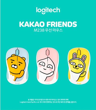 Logitech[hot item] logitech mouse M238 kakao friends Edition/wireless  mouse/pad/gaming/bluetooth/keyboard