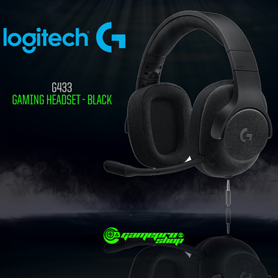 Qoo10 Logitech G433 Black Red Blue 7 1 Wired Gaming Headset