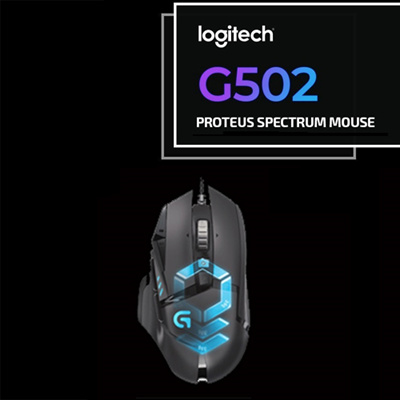 LogitechLogitech G502 Proteus Spectrum Gaming Mouse / G502 Hero / 1Year  Warranty