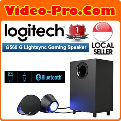 LogitechLogitech G560 LightSync PC Gaming Speakers with Game Driven RGB  Lighting 980-001304