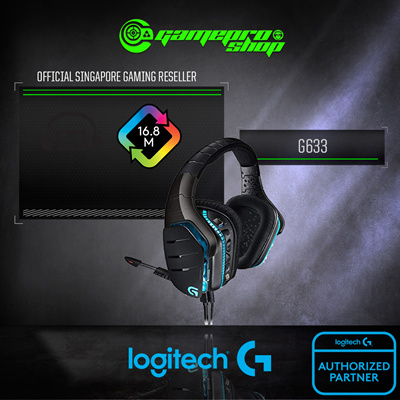 LogitechLogitech G633 ARTEMIS FIRE 7 1 Surround Sound Gaming Headset / FRQ  RES 20 HZ - 20 KHZ  2 - Years