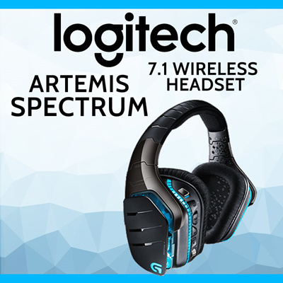 LogitechLOGITECH G933 ARTEMIS SPECTRUM 7 1 W/L HEADSET (2 Years Local  Warranty)