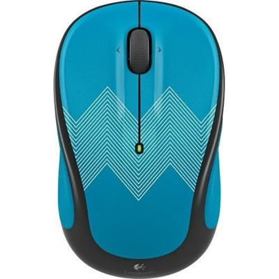 e653b0155be Qoo10 - Logitech - M325c Wireless Optical Mouse - Teal Zigzag : Computer &  Game