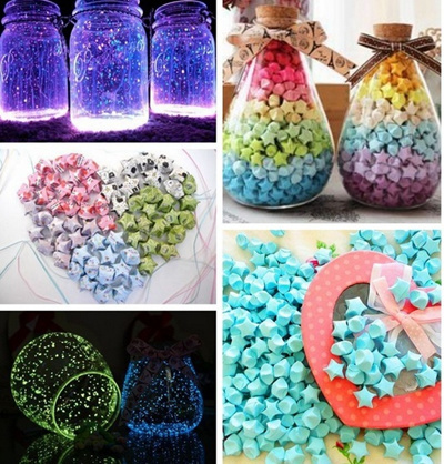 Lollipop Style Star Handcraft Origami Lucky Strips DIY Paper Decoration Color Multicolor