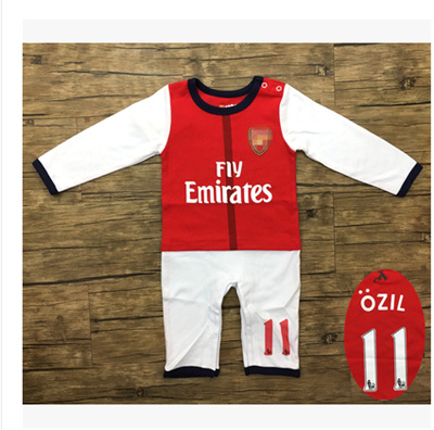 the best attitude cd013 10a29 Long Sleeve 17 season gunmen Arsenal 11 ozil pure cotton baby soccer dress  baby baby jersey