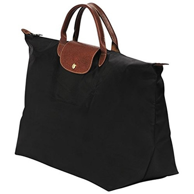 Longchamp Large Travel Bag Size L Black By Paris Le Pliage