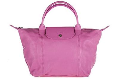 (Longchamp) Longchamp women s leather handbag shopping bag purse pink -1512737 3d1e5a3269