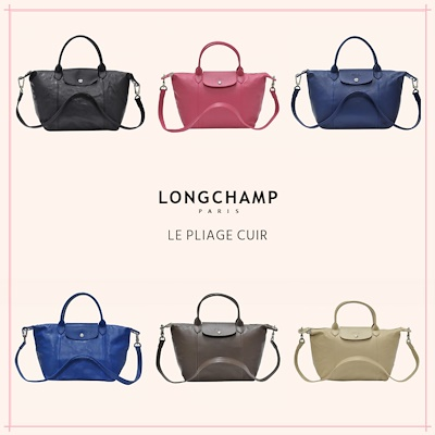 18d811fc84 [Official thatbagiwant.com] Longchamp Le Pliage Cuir Leather Bags Collection