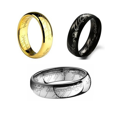 lord of the rings the one ring lotr titanium steel hobbit wedding band ring gift - The One Ring Wedding Band