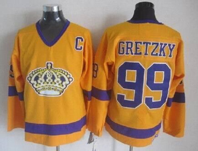 the best attitude edb69 32065 Los Angeles Kings 1967 Vintage Throwback Jersey CCM gold #99 Wayne Gretzky  jersey stittched la kings