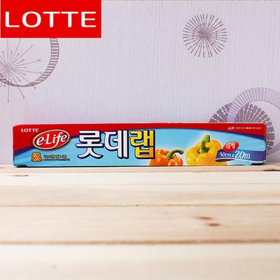 Lotte Premium Plastic Food Wrap, Food Wrap Film-Large, PVC (30cm×20M)