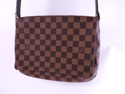 9cc3ed32b9bd Louis Vuitton Musette Tango Long Shoulder Bag Damier Ebene Canvas N 51301  beautiful item  pre