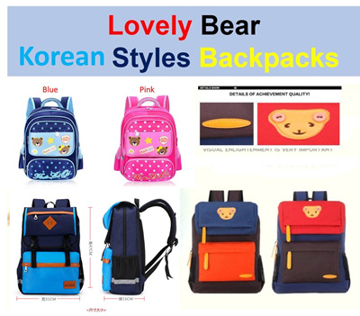 Qoo10 - Lovely Bear Korea style Cute Cartoons Backpack Kid children school  bag...   Kids Fashion 4faf71e695a29