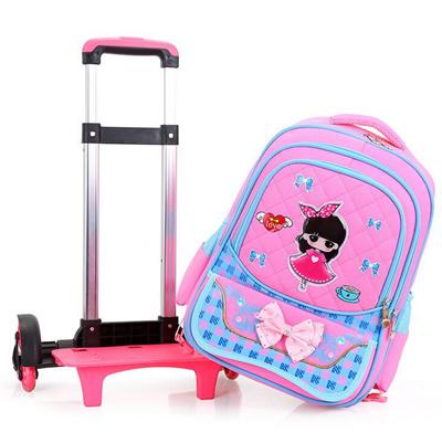 3ae3ef747e33 Qoo10 - ∽ Lovely Girl Printing Trolley School Bags for Girls Backpack kids  Boo...   Bag   Wallet