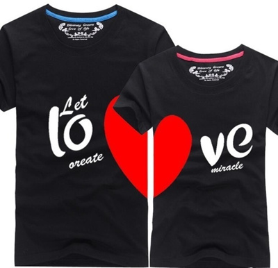 51823e90b0 Lovers T Shirt For Couples And Lovers Clothes Summer Shirt Men Women Heart  Love T-