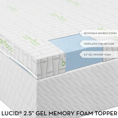 Qoo10 Lucid 2 5 Inch Gel Infused Ventilated Memory Foam Mattress