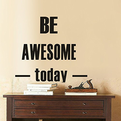 Qoo10 Luckkyy Be Awesome Today Vinyl Wall Decals Quotes Sayings