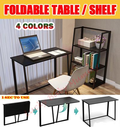 qoo10 new foldable table computer laptop study desk cross pc