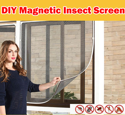LuckyBabyMummy【Ready Stock】DIY Magnetic Mosquito / Insect Screen Kit window  netting mosquito net mesh/anti dengue