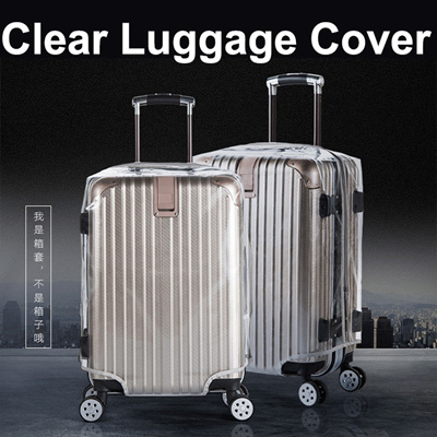 Luggage Cover Protector Clear Pvc Waterproof Anti Scratch Suitcase 18 20 22 24 26 28 30 Inch