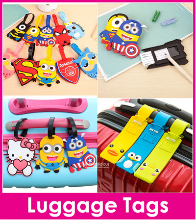 Luggage Tag Cartoon Name Tag Silicone Bag Tag Name Holder Teacher Day 373ac923d0450