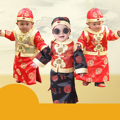 lunar new year traditional outfit for baby boys infant toddler chinese cny lny costume set - Chinese New Year Outfit