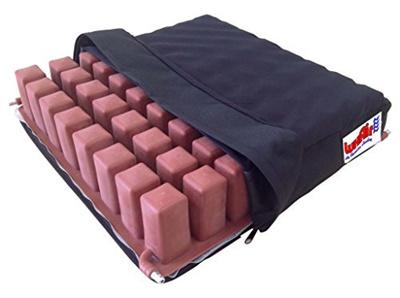 (LuxAir Air Flotation Seating) LuxAir Therapeutic Wheelchair Seat Cushion  (Quad Air Valve) - Redu