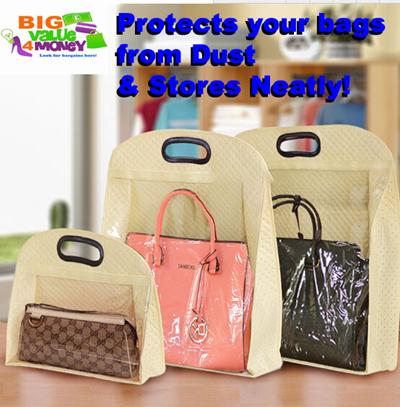Luxury DustFree Storage For Luxury Bags Organizer Closet Foldable Bag Holder  Hanger Protector