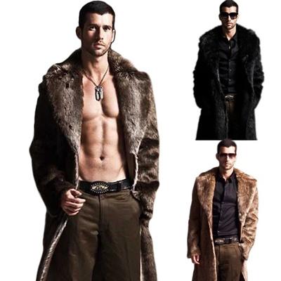 417afa5c72f185 Luxury Winter Men s Warm Overcoat Fur Parka Thick Coat Long Outwear Jacket