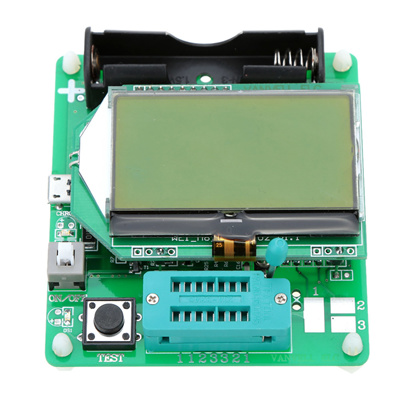 M328 Multi Functional Chargeable LCD Display Transistor Tester Diode Capacitance Inductor ESR LCR Meter With USB Interface