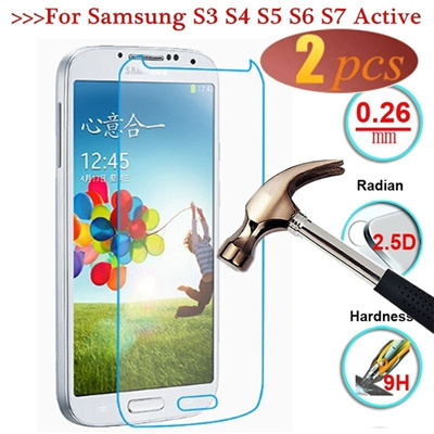 MA 9H Tempered Glass For Samsung Galaxy S3 Mini S4 Mini S4 Active S5 Mini  S3 S4 S5 S6 S7 Screen Pro