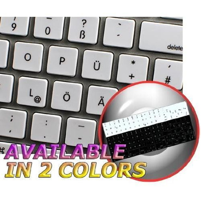 MAC NS GERMAN NON-TRANSPARENT KEYBOARD STICKERS WHITE BACKGROUND FOR  DESKTOP, LAPTOP AND NOTEBOOKInt