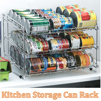 【⏰ MAD SALE】Stainless Steel 3 Tier Can Storage Rack/ Space