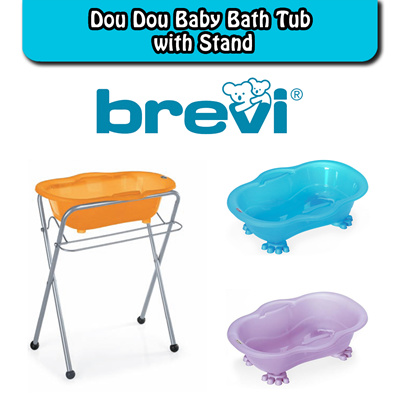 qoo10 made in italy brevi dou dou baby bath tub with brevi bath stand free baby maternity. Black Bedroom Furniture Sets. Home Design Ideas