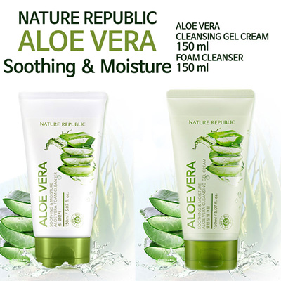 [Made In Korea][California Aloe] Nature Republic ALOE VERA Foam Cleanser 150