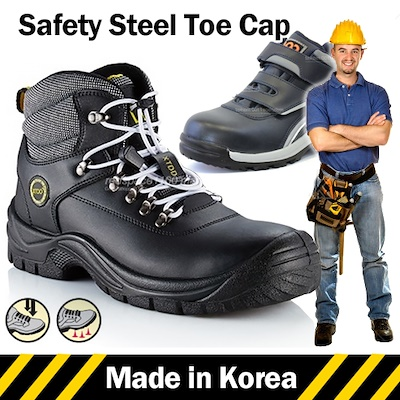 fc0c9af90f ☆Made in Korea☆ Mens Safety Shoes Safety boots Safety Work boots Steel Toe  Cap