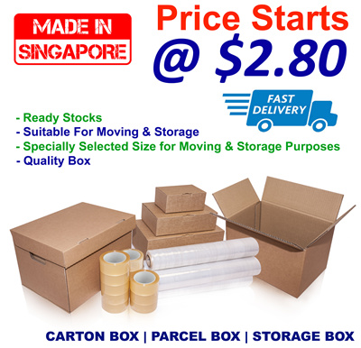 ★Made In Singapore★ Carton Boxes/Mailing Boxes/Parcel Boxes/Storage  Boxes/OPP Tape/Stretch Wrap/Packaging Material