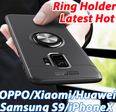 competitive price 176df 6453e Magnet Car Finger Ring Holder Phone Case For Samsung Galaxy S8 S9+ Plus  Note8 iPhone X 8 7 6 OPPO