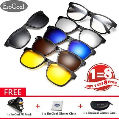 9f17da9c35 Qoo10 - Magnetic Sunglasses Clip On Glasses Unisex Polarized Lenses Retro  Fram...   Computer   Game