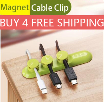 Qoo10 - Magnetic tiny Wire Cable Organizer Desktop Workstation Clips ...