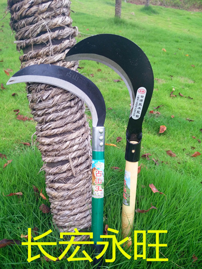 Mail even handle hatchet farm Scythe sickle short hook wood fruit tree  pruning knife and sickle Moun