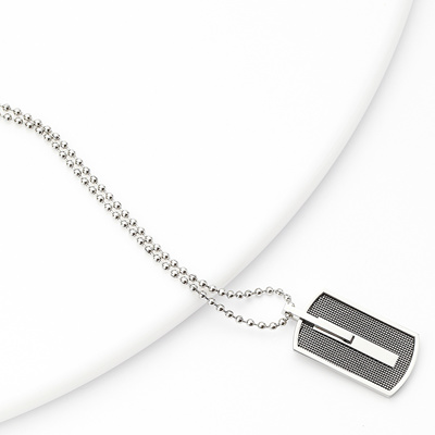 Qoo10 mail service free mens necklace surgical stainless steel mail service free mens necklace surgical stainless steel hypoallergenic pendant dog tag plate unisex ball chain mozeypictures Gallery